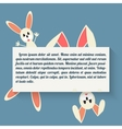 Easter bunny in style flat vector image