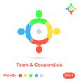 Four segment concept of team vector image