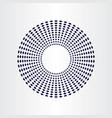 geometric circle halfrone background element vector image