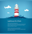 lighthouse at the sea poster vector image