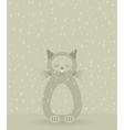 Sad cat vector image