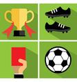 Soccer icon set I vector image