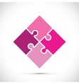pink jigsaw pieces vector image vector image