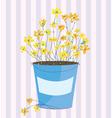 Spring flowers easter background vector image