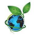 earth green eco concept vector image