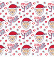 santa claus new year pattern christmas wrapping vector image