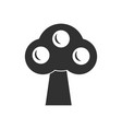 black icon on white background ecological tree vector image vector image