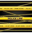 Police lines vector image