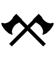 Crossed axes icon vector image