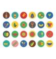 Kitchen Food Icons Set Fruit dinner or vector image