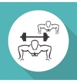 Healthy lifestyle design Bodybuilding vector image