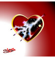 a big red heart of love and vector image