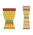 African drums vector image