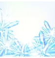 card with winter decor vector image