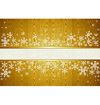 Christmas snowflakes golden background vector image