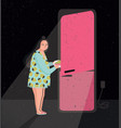colorful featuring late night fridge vector image