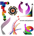 Decorative arrows and pointers vector image