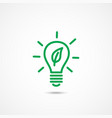 ecology bulb light icon vector image