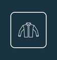 jacket outline symbol premium quality isolated vector image