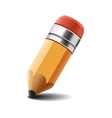 Pencil on white background vector image