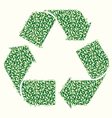 Recycle Leaf vector image