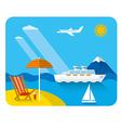 sea and beach resort vector image