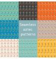 Set of 8 seamless ethnic aztec patterns vector image