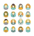 Set of People Characters Avatars in Flat Design vector image