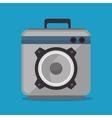 audio speaker power music icon vector image