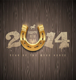 New 2014 year holidays design horseshoe vector image