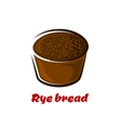 Cartoon loaf of spicy rye bread vector image vector image