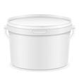 plastic bucket for paint 03 vector image