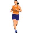 runner vector image vector image