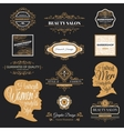 barber shop labels and logos vector image
