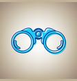 binocular sign sky blue icon vector image