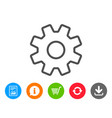 cogwheel line icon service sign vector image