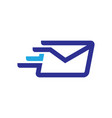 fast mail logo vector image