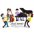 musicians jazz band play trumpetbassist vector image
