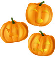 pumpkins for halloween on vector image