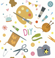 Seamless print with hobby tools vector image