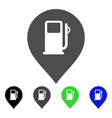 fuel station marker flat icon vector image