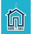 Real estate over blue background vector image