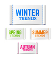 Winter spring summer and autumn trends vector image vector image