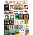 Mega collection of flat web infographics vector image vector image