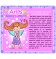 Aries Zodiac kid vector image