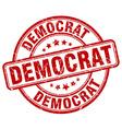 democrat red grunge round vintage rubber stamp vector image