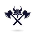 viking logo vector image vector image