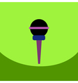 flat icon design collection microphone in flat vector image