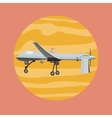 Flying Drone in Flat Design vector image
