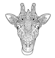 Giraffe head doodle vector image